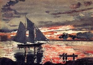 Winslow Homer - Sunset Fires