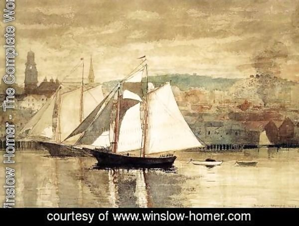 Winslow Homer - Gloucester Schooners and Sloop