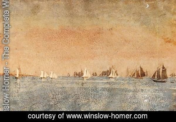 Winslow Homer - Gloucester Harbor, Fishing Fleet