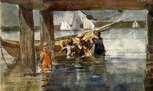 Winslow Homer - Childred Playing under a Gloucester Wharf