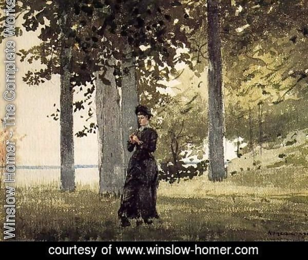 Winslow Homer - Woman with a Flower