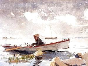 Winslow Homer - A Girl in a Punt
