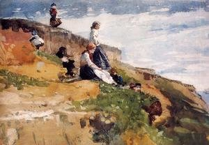 Winslow Homer - On the Cliff