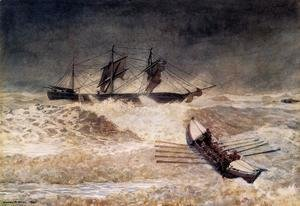 Winslow Homer - Wreck of the Iron Crown