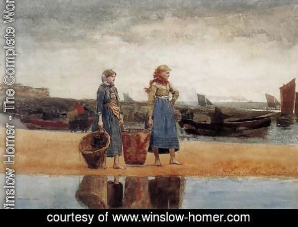 Winslow Homer - Two Girls at the Beach, Tynemouth