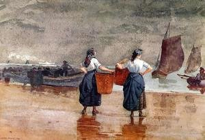 Winslow Homer - Fishergirls on the Beach, Tynemouth