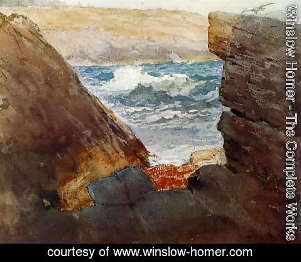 Winslow Homer - Through the Rocks