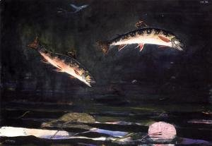Winslow Homer - Leaping Trout