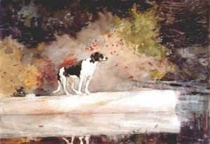 Winslow Homer - Dog on a Log