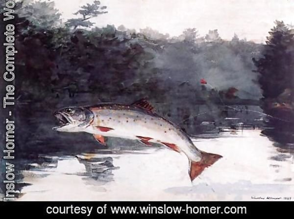Winslow Homer - Leaping Trout I
