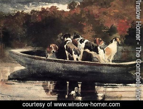 Winslow Homer - Dogs in a Boat