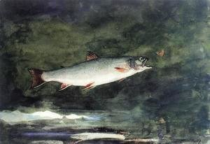 Winslow Homer - Leaping Trout II