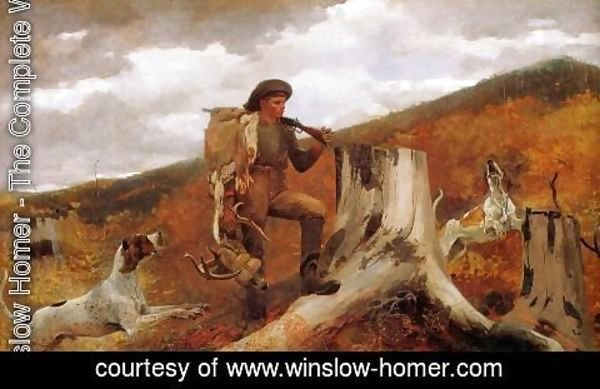 Winslow Homer - Huntsman and Dogs