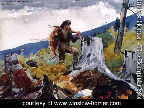 Winslow Homer - Guide Carrying a Deer