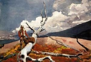 Winslow Homer - Woodsman and Fallen Tree