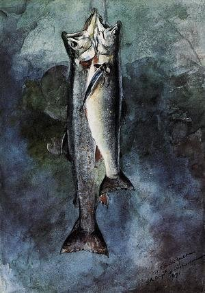 Winslow Homer - Two Trout I