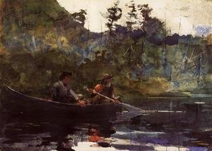 Winslow Homer - Canoeing in the Adirondacks