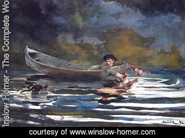 Winslow Homer - Hound and Hunter (sketch)