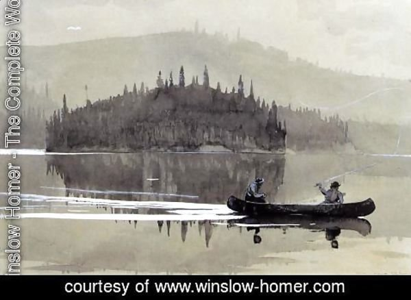 Winslow Homer - Two Men in a Canoe
