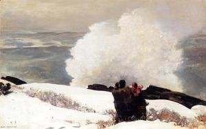 Winslow Homer - Watching the Breaker - A High Sea