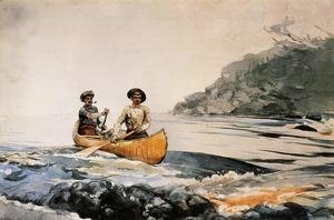 Winslow Homer - Entering the First Rapid
