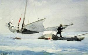Winslow Homer - Stowing the Sail