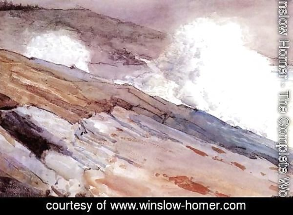Winslow Homer - Surf on Cliffs