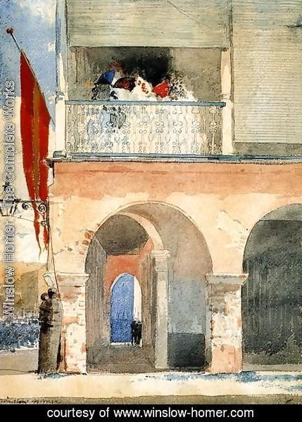 Winslow Homer - Customs House, Santiago de Cuba