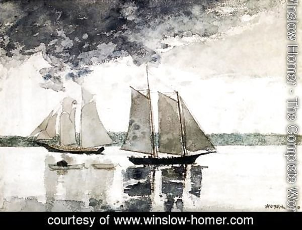 Winslow Homer - Two Schooners