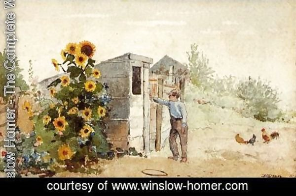 Winslow Homer - Backyard, Summer