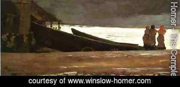Winslow Homer - Watching a Storm on the English Coast