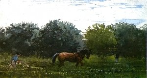 Winslow Homer - Horse and Plowman, Houghton Farm