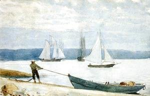 Winslow Homer - Pulling the Dory