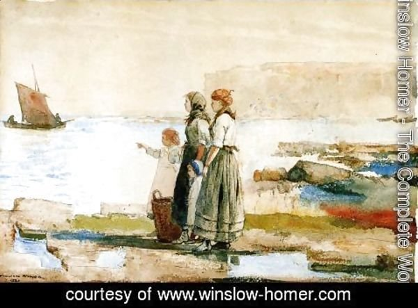 Winslow Homer - Waiting for the Return of the Fishing Fleet