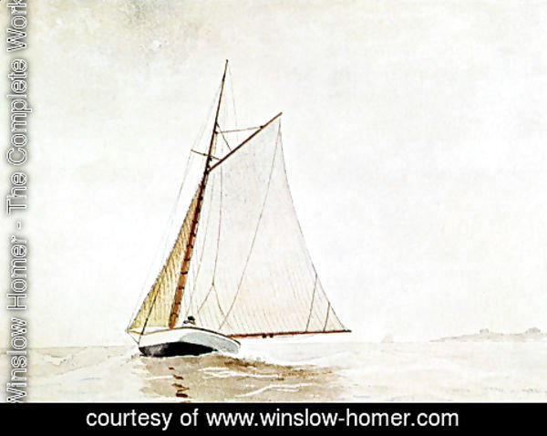 Winslow Homer - Yachting, off Cloucester
