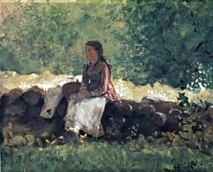 Winslow Homer - On the Fence I