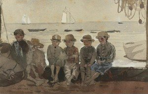 Winslow Homer - Boys on a Dock (Boys Sitting on a Wharf)