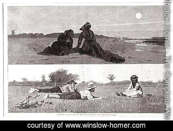 Winslow Homer - Flirting on the Seashore and on the Meadow