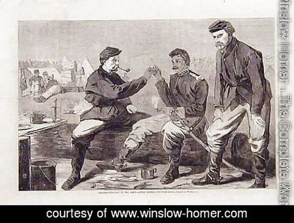 Winslow Homer - Thanksgiving Day in the Army- After Dinner: The wishbone