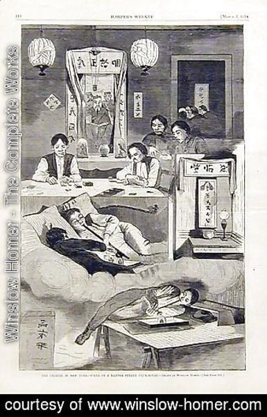 The Chinese in New York, scene in a Baxter Street Clubhouse