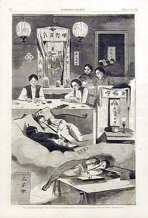 Winslow Homer - The Chinese in New York, scene in a Baxter Street Clubhouse