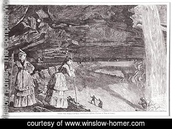 Winslow Homer - Under the Falls, Catskill Mountains