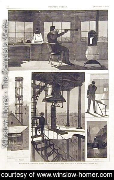 Winslow Homer - Watch-tower, corner of Spring and Varick Streets, New York