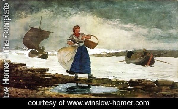 Winslow Homer - Inside the Bar, Tynemouth