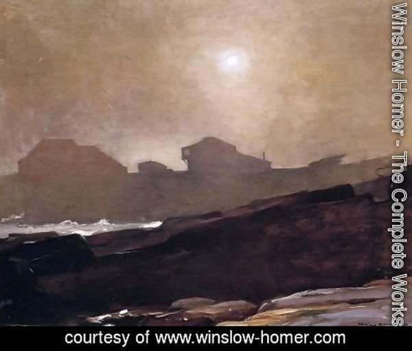 Winslow Homer - The Artist's Studio in an Afternoon Fog