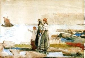 Winslow Homer - Women watching the sea