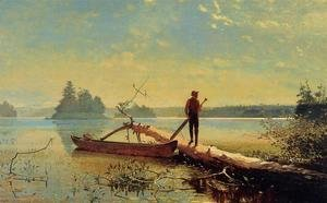 Winslow Homer - An Adirondack Lake 1870