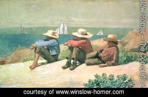 Winslow Homer - On the Beach 1875