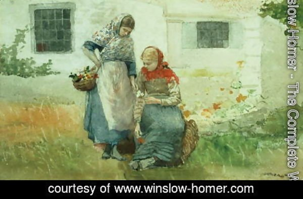 Winslow Homer - Picking Flowers 1881