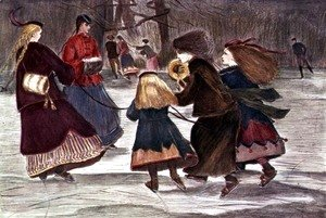 Winslow Homer - Skating in Winter